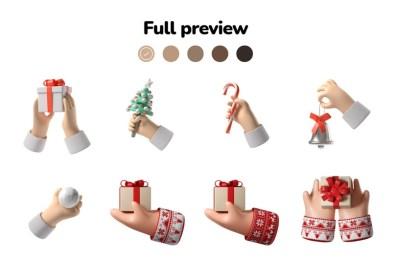 Бесплатные рождественские 3D-иконки Icons8