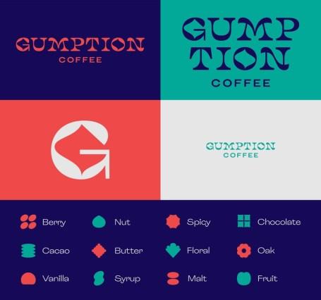 Обновление айдентики и упаковки обжарщиков и кофеен Gumption Coffee