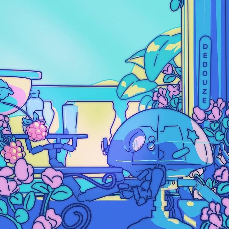 Андри Дедуз рисует и анимирует «плоские» иллюстрации в Blender 3D