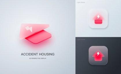 Глассморфные иконки Чанъю Ху, дизайнера из Пекина