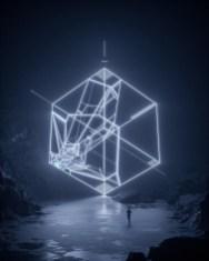 Трёхмерная абстрактная неоновая геометрия в работах Райана Хоторна (Ryan Hawthorne), дизайнера и арт-директора из Лос Анджелеса