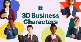Icons8 добавили в свой каталог иллюстраций большой набор корпоративных 3D-персонажей