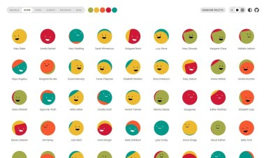 Boring Avatars — генератор наборов аватарок