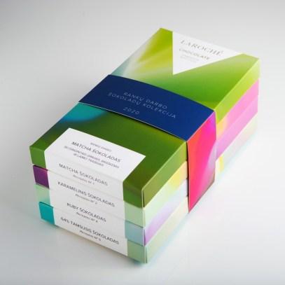Сеточные градиенты в упаковке шоколада ручной работы Laroch
