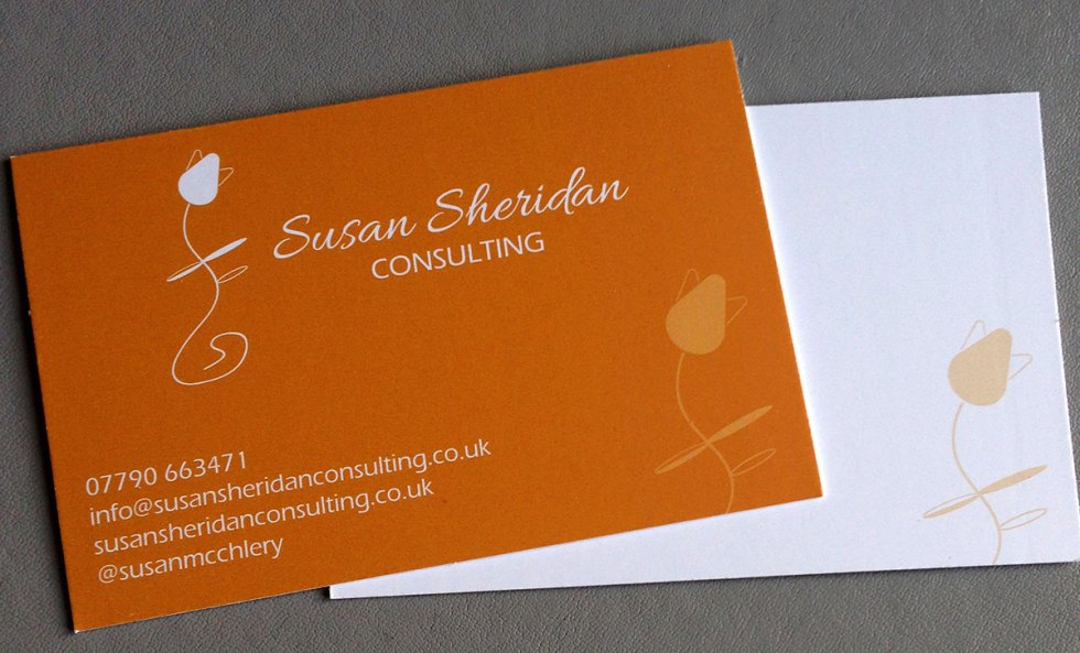 Susan Sheridan Consulting business cards