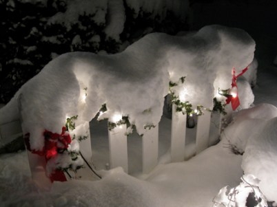 No one who lives there is hoping for this kind of Christmas snow, but we are!