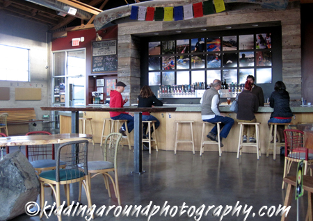 Base Camp Brewing is a great space! I love the giant boulders that are part of the table supports.