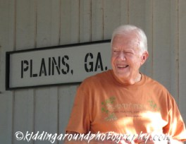 President Carter at the road race awards ceremony