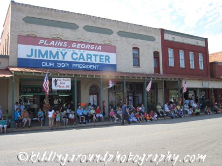 The crowd awaits the Main Street Parade