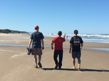 Some of the guys on the beach.