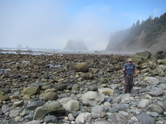 Lots of rocky beach hiking