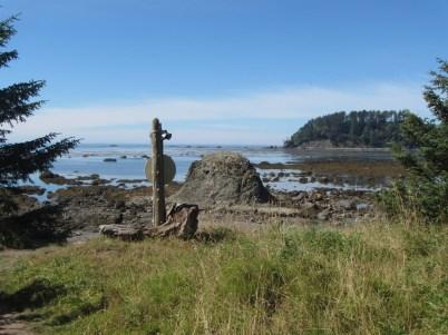 Cape Alava trailhead marker