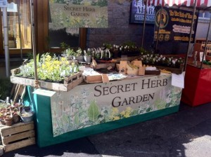 Herbs from the Secret Herb Garden are available at the regular Stockbridge Market