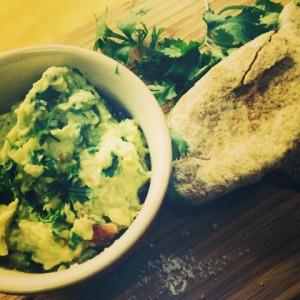 Lemon sea salt was perfect on this guacamole