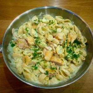 Smoked haddock pasta