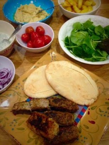 cooked kebabs