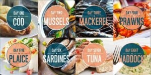 A great selection of seafood for 'Fish of the Day'