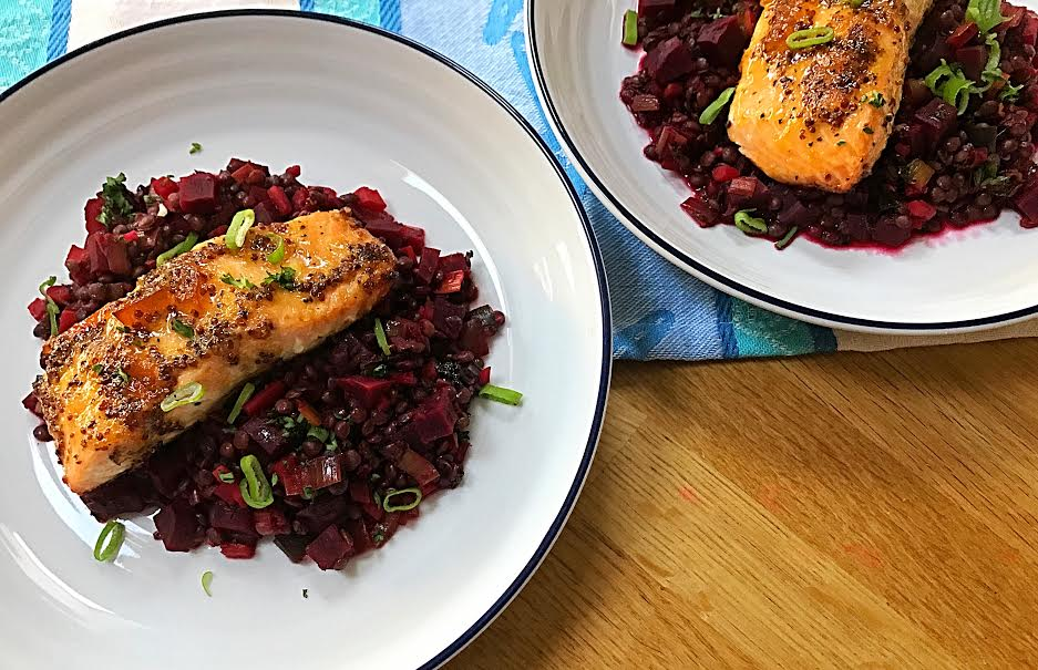 Salmon with Puy Lentils