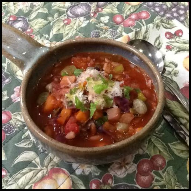 Minestrone soup. A powerhouse of nutrition