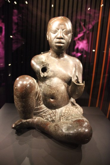Seated Figure Late 13th- or 14th Century. Copper (with traces of arsenic, lead and tin) From Tada, a village to the North of Ile Ife, Nigeria. (Photo By ARL)