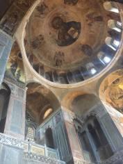Interior of the Byzantine Ossios Loukas church