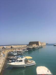 View of the castle in the harbor