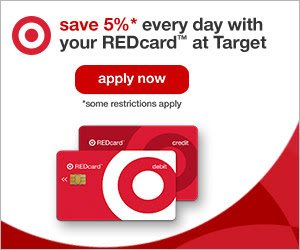 Save 5% with Target Red Card