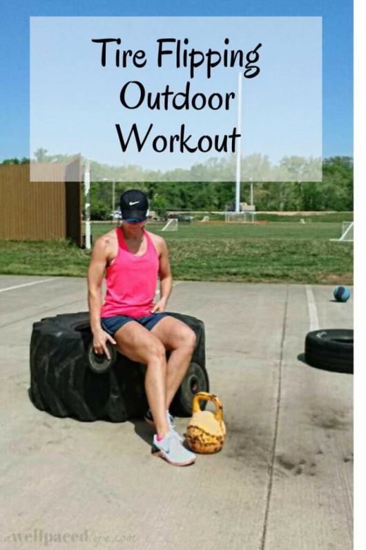 Tire Flipping Outdoor Workout