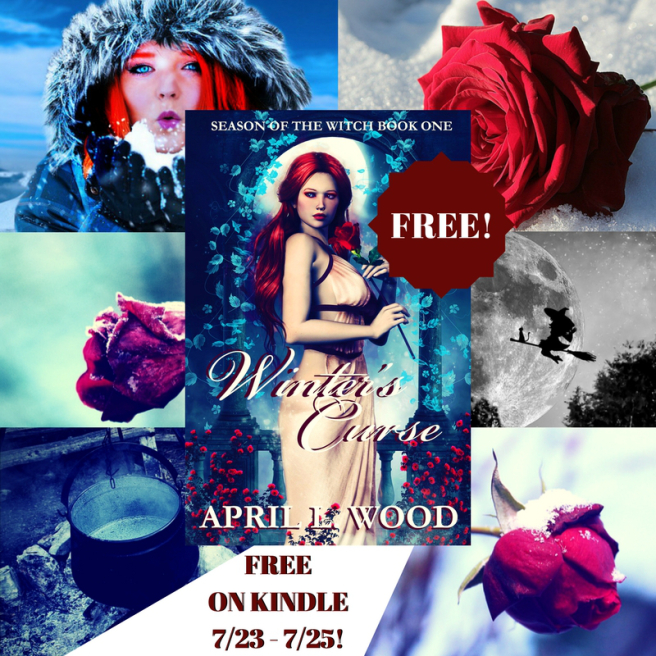 #FREE #ya, #paranormalromance  Winter's Curse, by Author April L Wood, Season of the #Witch Book 1 #freebookpromo #kindle #iartg