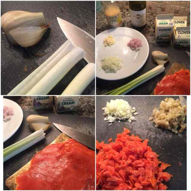 ingredients for Smoked Salmon Chowder