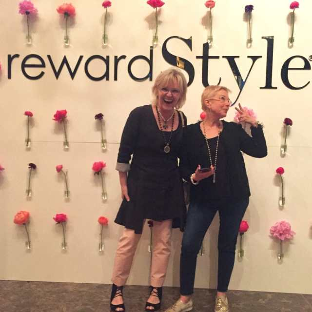 goofing around at the Reward Style Conference
