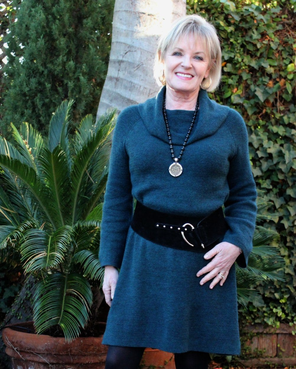 Jennifer Connolly of A Well Styled Life styling a sweater dress