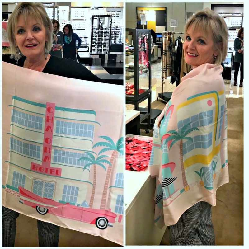 Jennifer Connolly of A Well Styled life wearing Kate Spade scarf at Nordstrom