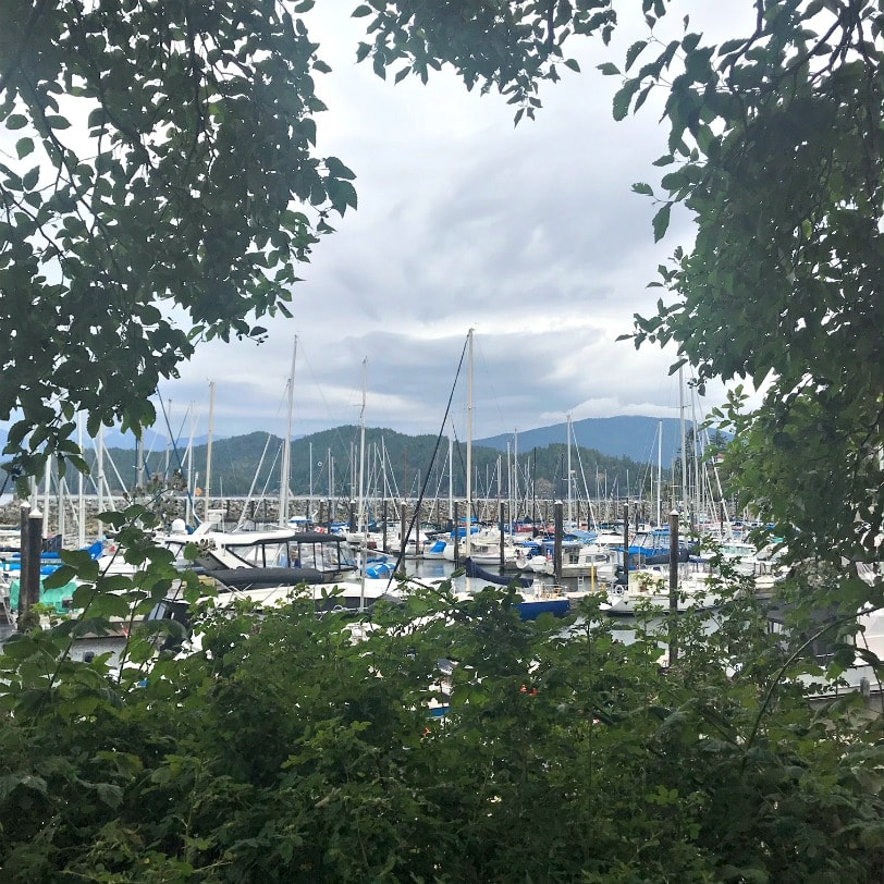 Gibsons Harbor in Gibsons BC