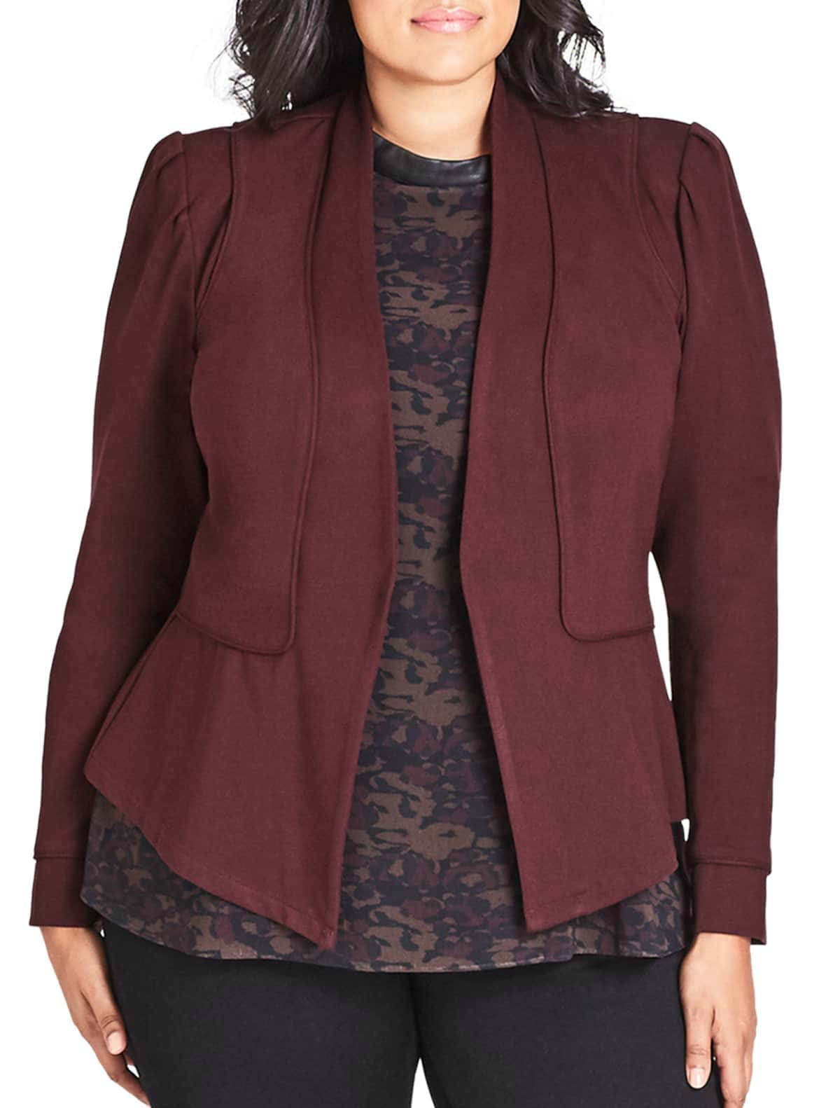 soft knit jacket City Chic from Nordstrom on A Well Styled Life