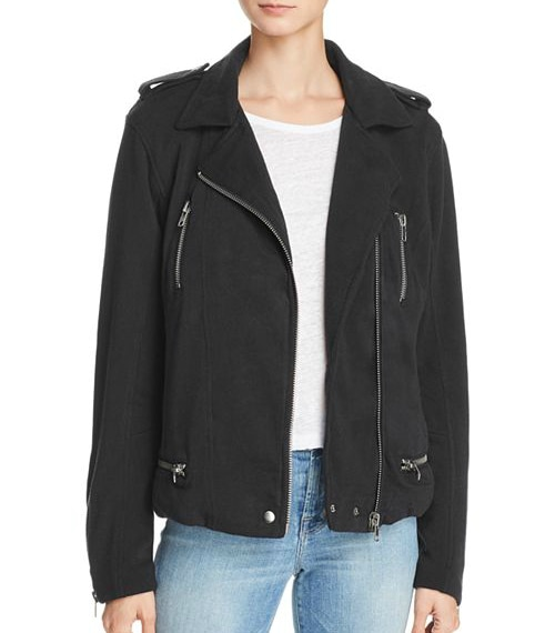 CHASER soft knit moto jacket from Bloomingdales on A Well Styled Life