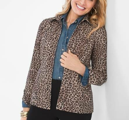 soft knit Animal Print Jacket from Chico's on A Well Styled Life