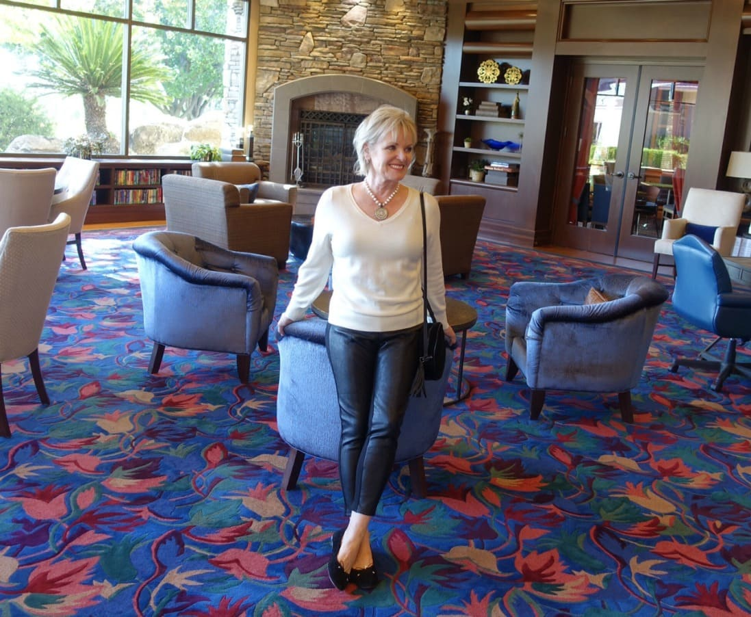 0ab8c995b9f How to Wear Leather Leggings Over 50 - A Well Styled Life®