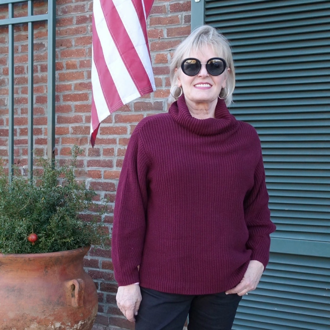 all over rib sweater by Vince Camuto