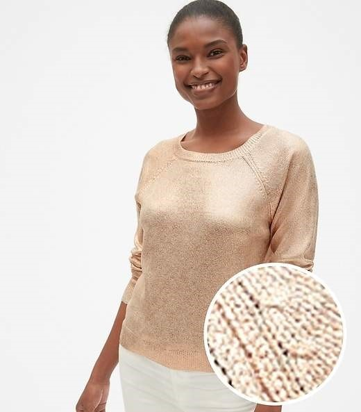 Rose Gold sweater from Gap on A Well Styled Life