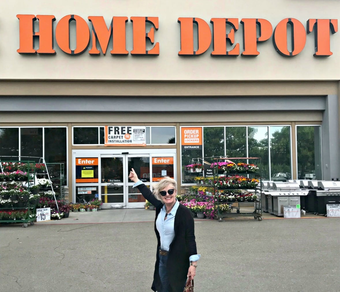 Jennifer Connolly of A Well Styled Life outside Home Depot