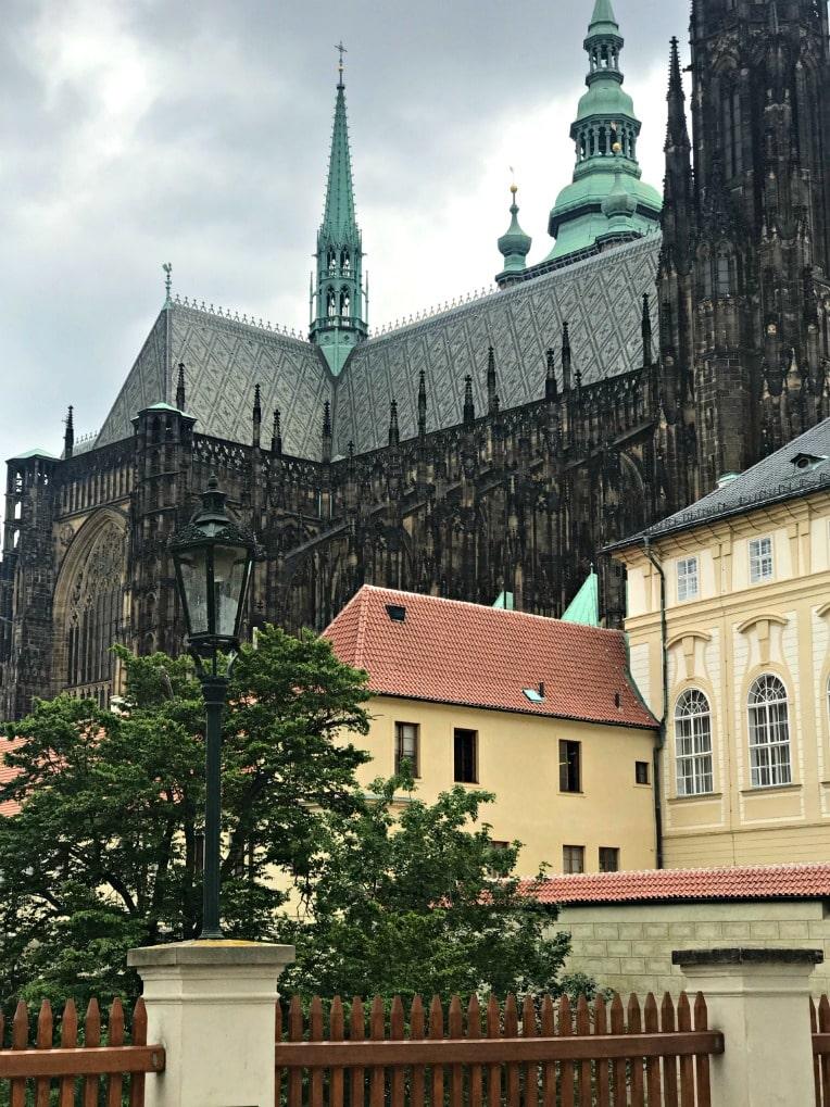Prague castle seen on a Viking Cruise