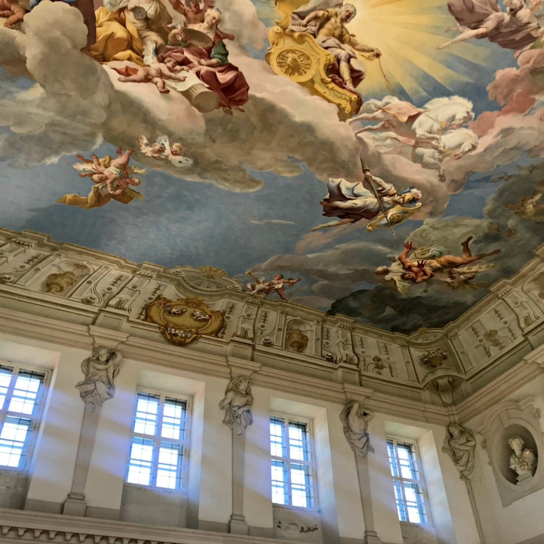 ceiling fresco in Gottweig abbey on Viking Cruise on A Well Styled Life
