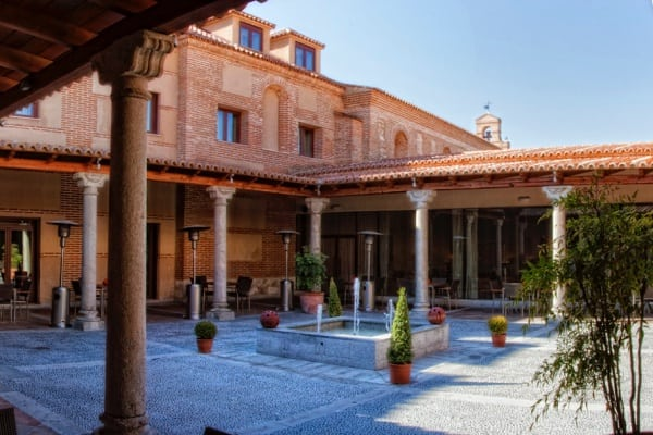 Erected on the ruins of the 12th century ancient convent of Sancti Spiritus is the Hotel Castilla Termal Spa of Olmedo, Spain. www.awelltravelledbeauty.com