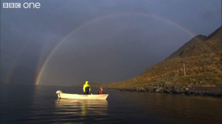 Arctic Reindeer Water Crossing BBC One Screencap1