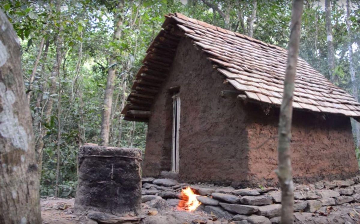 Primitive Technology - Ein Haus bauen ohne Werkzeug!