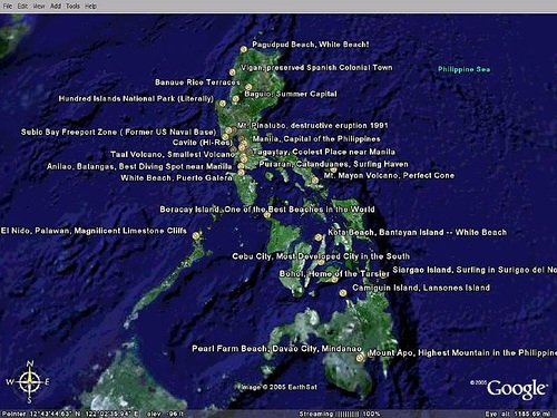 Google Earth Map Philippines First Philippines Google Earth Tour! – Awesome!