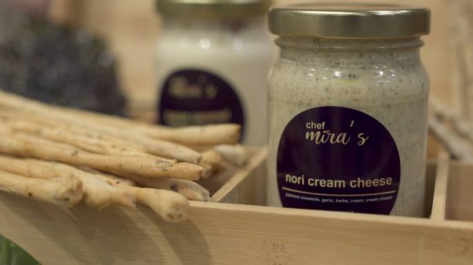1. Nori Cream Cheese (4oz ₱130, 8oz ₱250) 2. Bacon Caramel Cream Cheese (4oz ₱130, 8oz ₱250)