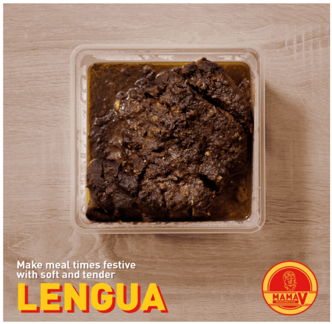 BEEF LENGUA (1.2 KG - ₱1,500 serves 8-10 people). A sweet melt-in-your-mouth serving of our beef lengua is all you need for the perfect gathering with friends and family!