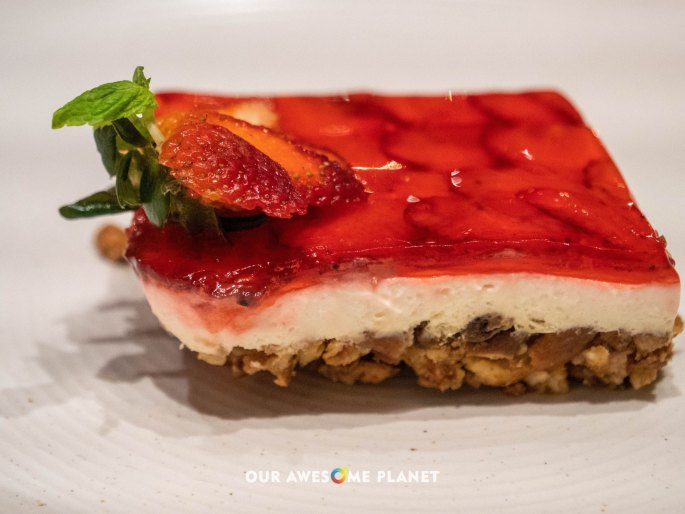 Strawberry Pretzel Mousse